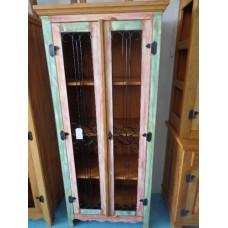 Armário grande rústico - madeira de demolição peroba rosa com ferragem - 2 portas
