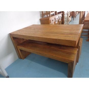 Mesa com banquetas - madeira demolição rustica