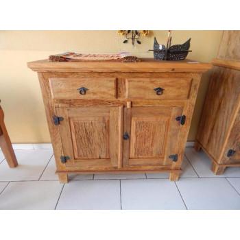 Armário / buffet rústico  - madeira de demolição peroba rosa - 2 portas e 2 gavetas
