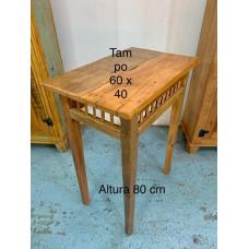 Mesa multi uso  madeira de demolição rústica - marrom-claro