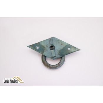 Puxador para móveis rústico - modelo losango - 8,7 cm