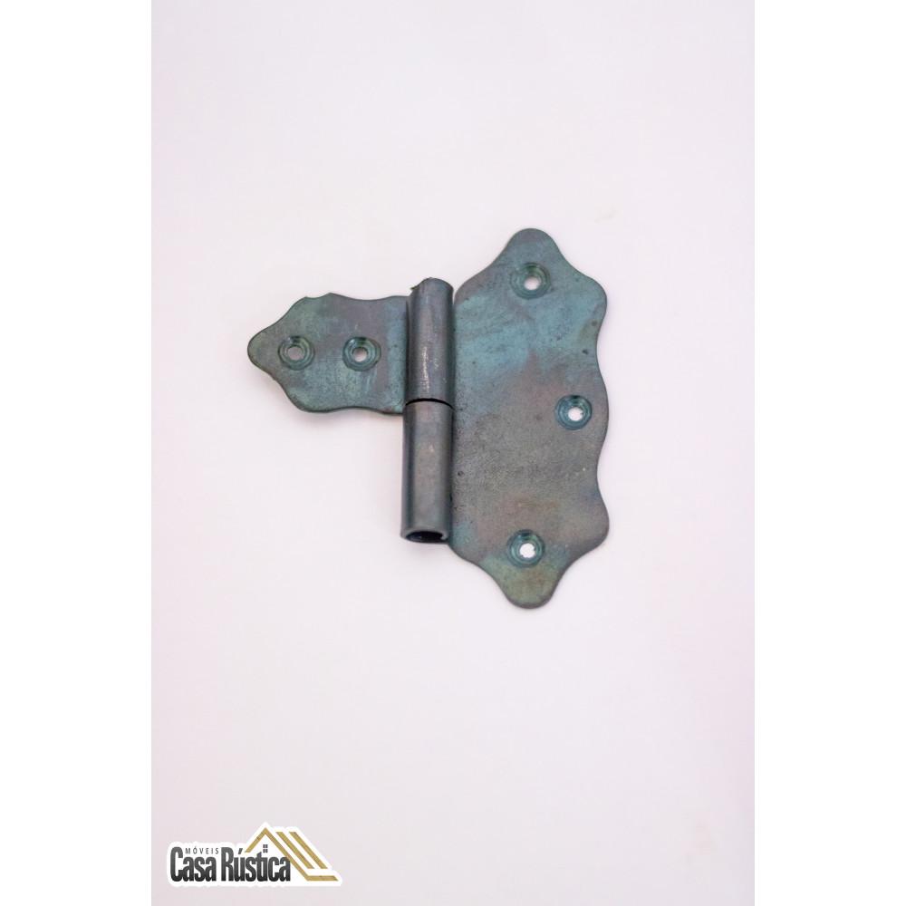 Dobradiça rustica 7,5 cm / 6,8 cm modelo caneta borboleta - lado esquerdo ou direito