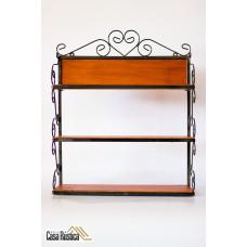 Prateleira porta condimento rústico decorativo 60x50x12cm