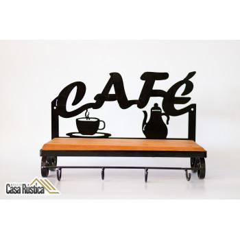 Prateleira porta xícaras café - 40cm x 20cm