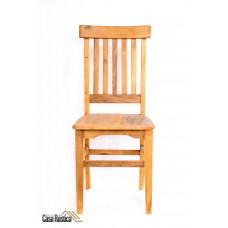 Duas (2) cadeiras de madeira peróba rosa de demolição modelo estação