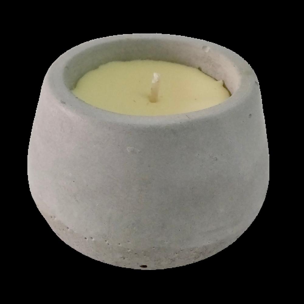 Vela em pote de cimento - essência citronela - cód 2028