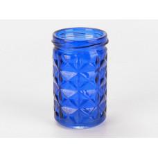 Copo de vidro para porta-vela atlantico - azul escuro - cód 3018