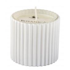 Vela em pote de vidro branco 6x7 cm - cód 2108