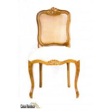 Cadeira luis xv luxo - madeira jequitibá
