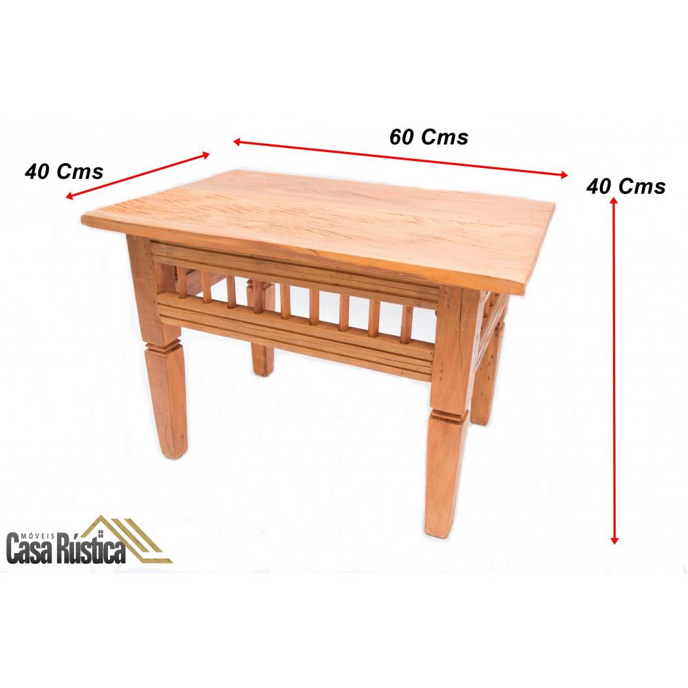 Mesa de centro rústica modelo palito - madeira de demolição peroba rosa