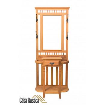 Chapeleiro / mancebo / cabideiro / porta bengalas - com moldura para espelho
