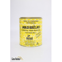 Cera de carnaúba max-brilho especial para madeiras - imbuia - 900 ml - 2 unidades