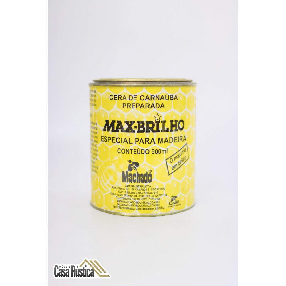 Cera de carnaúba max-brilho especial para madeiras - imbuia - 900 ml - 3 unidades