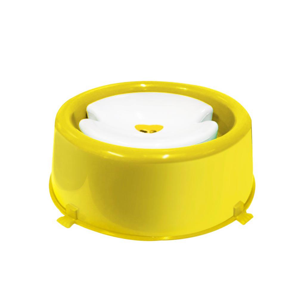 Bebedouro plástico para cães Classic pelos longos Furacão Pet - 1.000 ml (amarelo)
