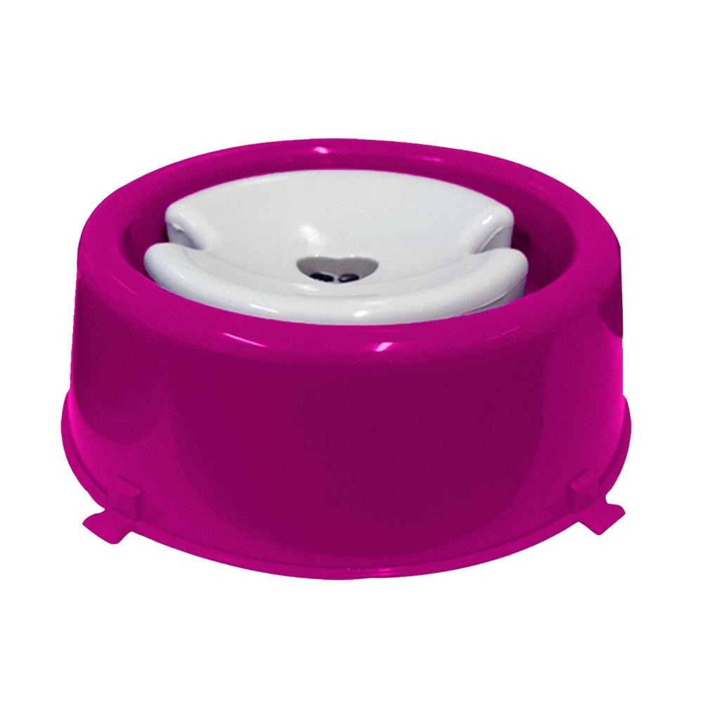 Bebedouro plástico para cães Classic pelos longos Furacão Pet - 1.000 ml (rosa)