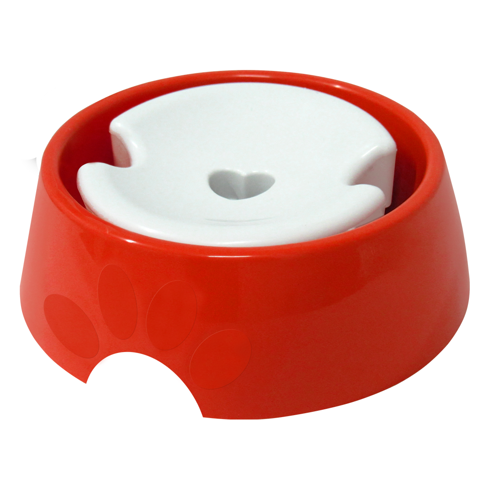 Bebedouro plástico para cães Pop pelos longos Furacão Pet - n3 - 1.000 ml (vermelho)