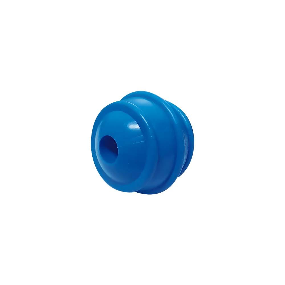 Bola maciça colorida para cães Furacão Pet 50 mm - porta ossinho