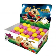 Bola maciça colorida Mamoninha para cães Furacão Pet 45 mm - embalagem com 24