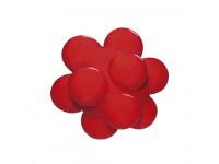 Bola maciça colorida Meteoro para cães Furacão Pet 60 mm