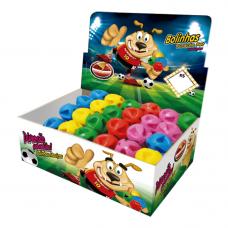 Bola maciça colorida Super ball para cães Furacão Pet 45 mm - embalagem com 24