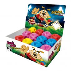Bola maciça colorida Super ball para cães Furacão Pet 60 mm - embalagem com 12