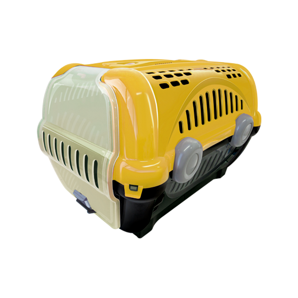 Caixa de transporte para animais Luxo  n1 - amarela