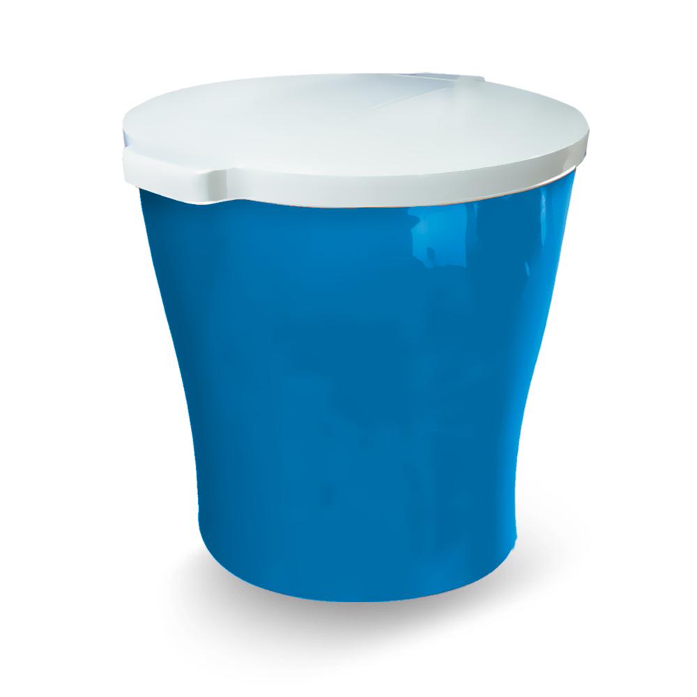 Canister redondo para armazenar ração de Cão ou Gato Furacão Pet 15 kg (azul)