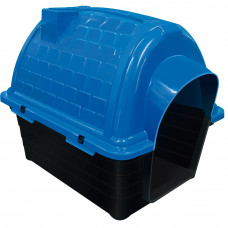 Casinha plástico para cães Furacão Pet Iglu n1,0 - azul