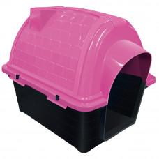 Casinha plástico para cães Furacão Pet Iglu n2,0 - rosa