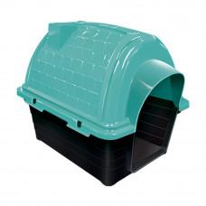 Casinha plástico para cães Furacão Pet Iglu n2,0 - verde
