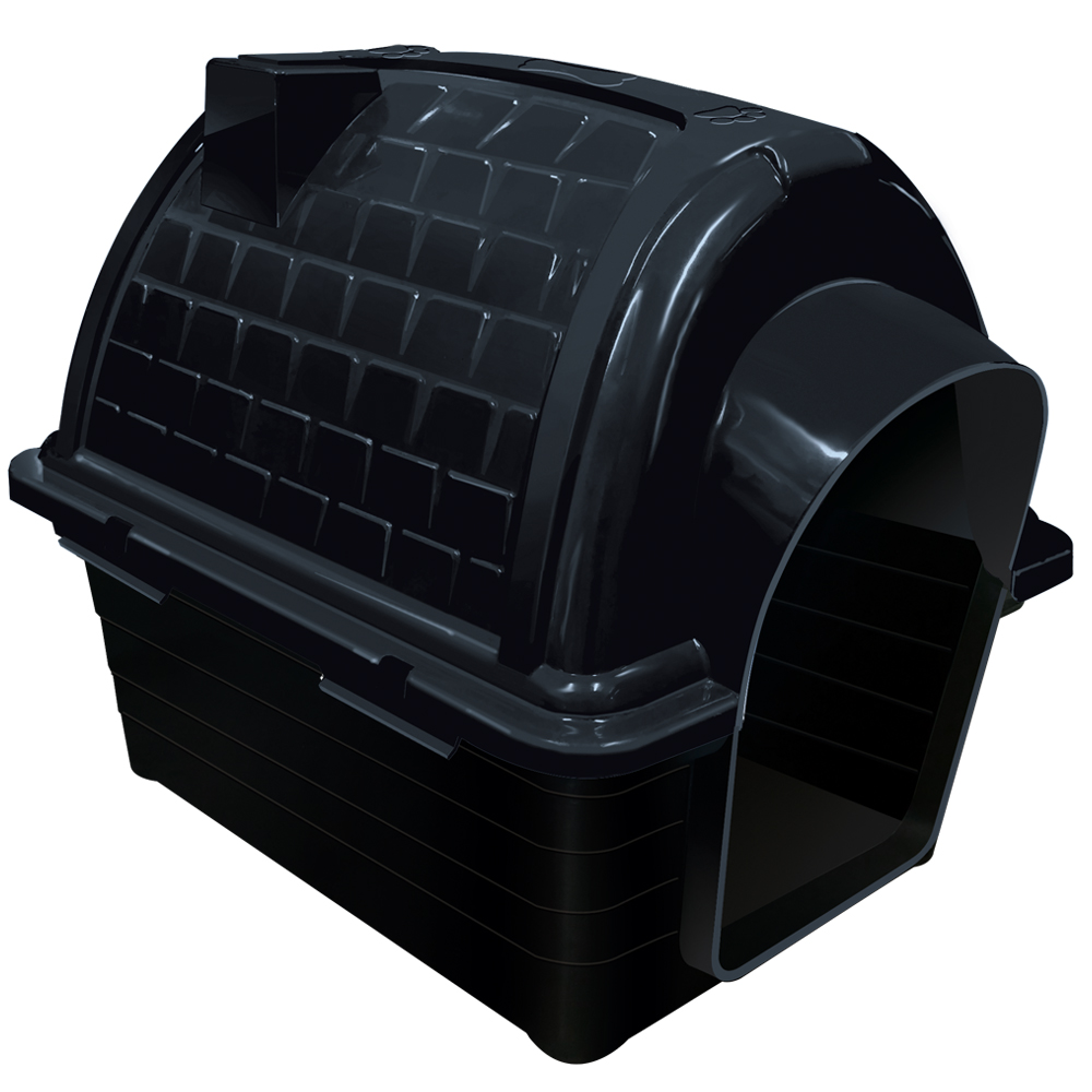 Casinha plástico para cães Furacão Pet Iglu n3,0 - black