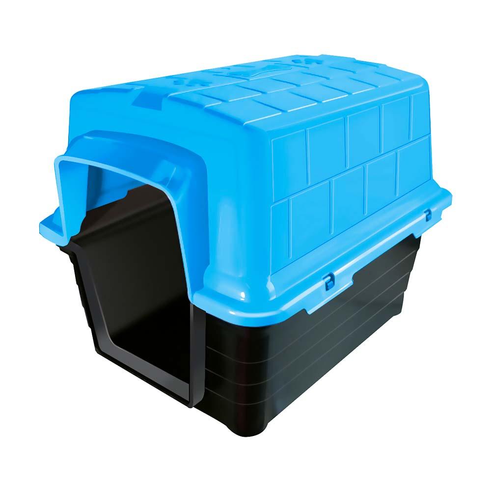 Casinha plástico Furacão Pet n3,0 - azul