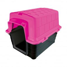 Casinha plástico Furacão Pet n5,0 - rosa