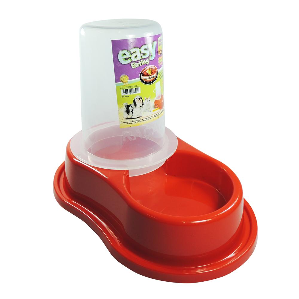 Comedouro plástico Anti-formiga Automático com dosador para cães Furacão Pet - p (vermelho)