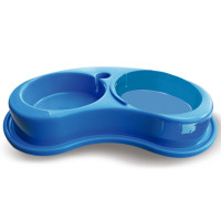 Comedouro plástico Anti-formiga joy duplo para cães Furacão Pet 1.550ml - g (azul)