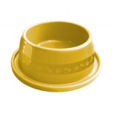 Comedouro plástico Anti-formiga para cães Furacão Pet n2 - 550 ml (amarelo)