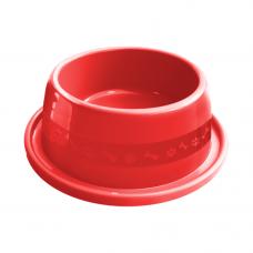 Comedouro plástico Anti-formiga para cães Furacão Pet n2 - 550 ml (vermelho)