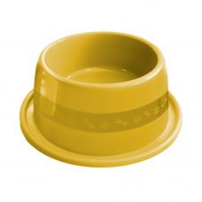 Comedouro plástico Anti-formiga para cães Furacão Pet n3 - 1000 ml (amarelo)