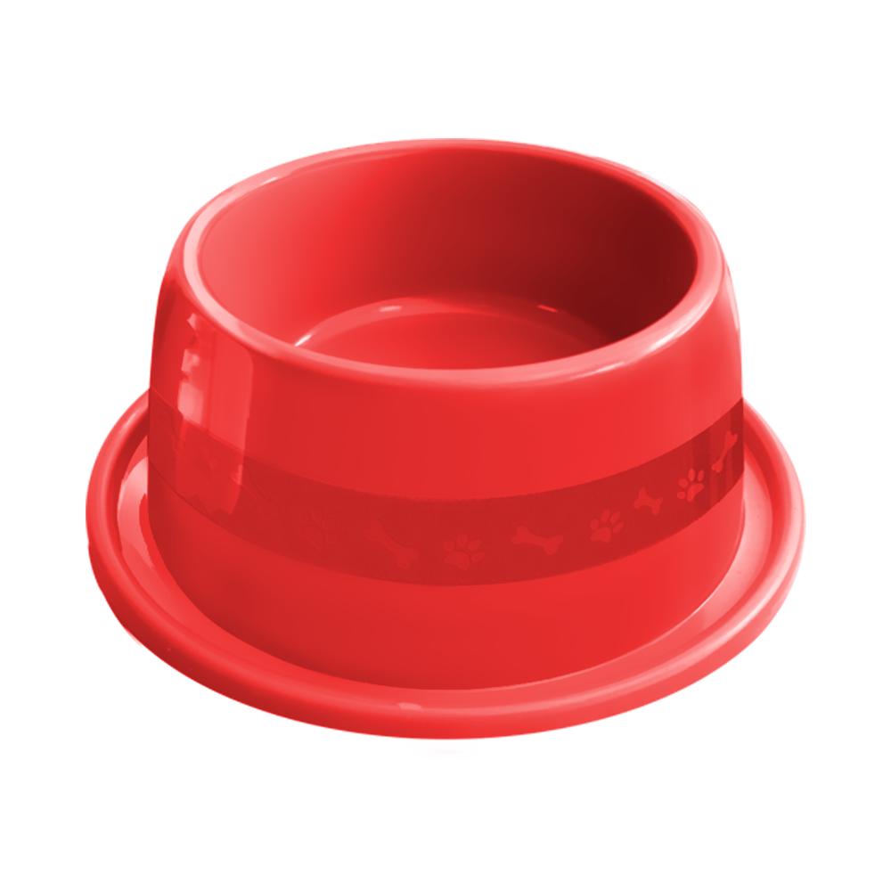 Comedouro plástico Anti-formiga para cães Furacão Pet n3 - 1000 ml (vermelho)