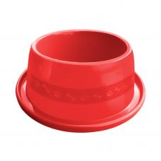Comedouro plástico Anti-formiga para cães Furacão Pet n4 - 1900 ml (vermelho)