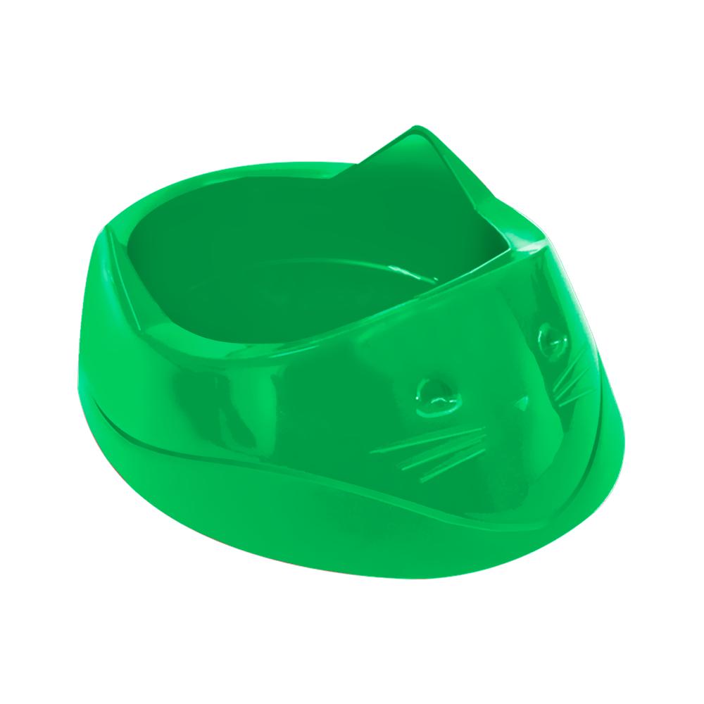 Comedouro plástico Cara do gato Furacão Pet 200 ml