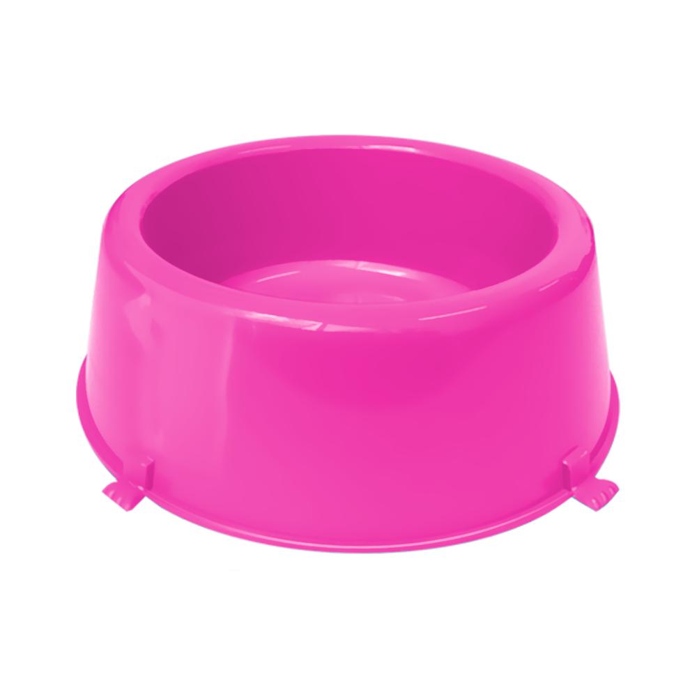 Comedouro plástico Classic para cães Furacão Pet n1 - 370 ml (rosa)