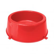 Comedouro plástico Classic para cães Furacão Pet n1 - 370 ml (vermelho)