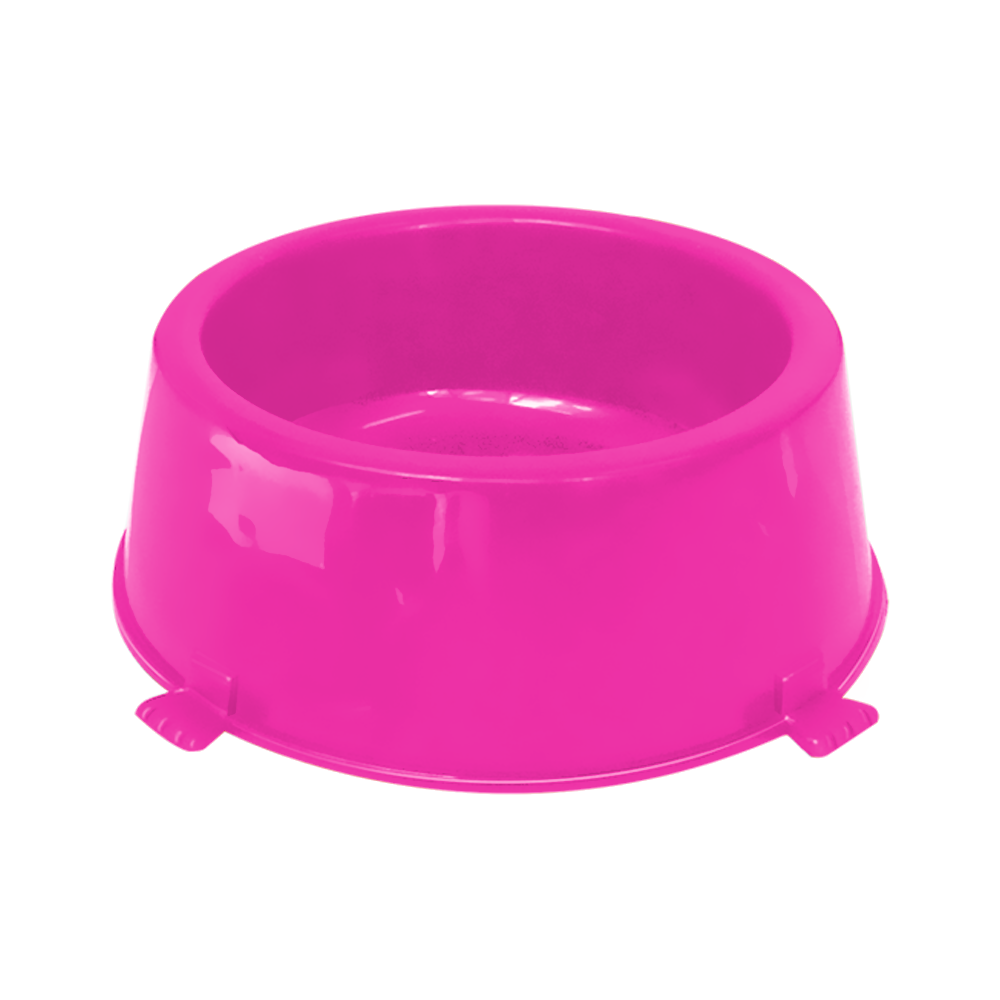Comedouro plástico Classic para cães Furacão Pet n2 - 1.080 ml (rosa)