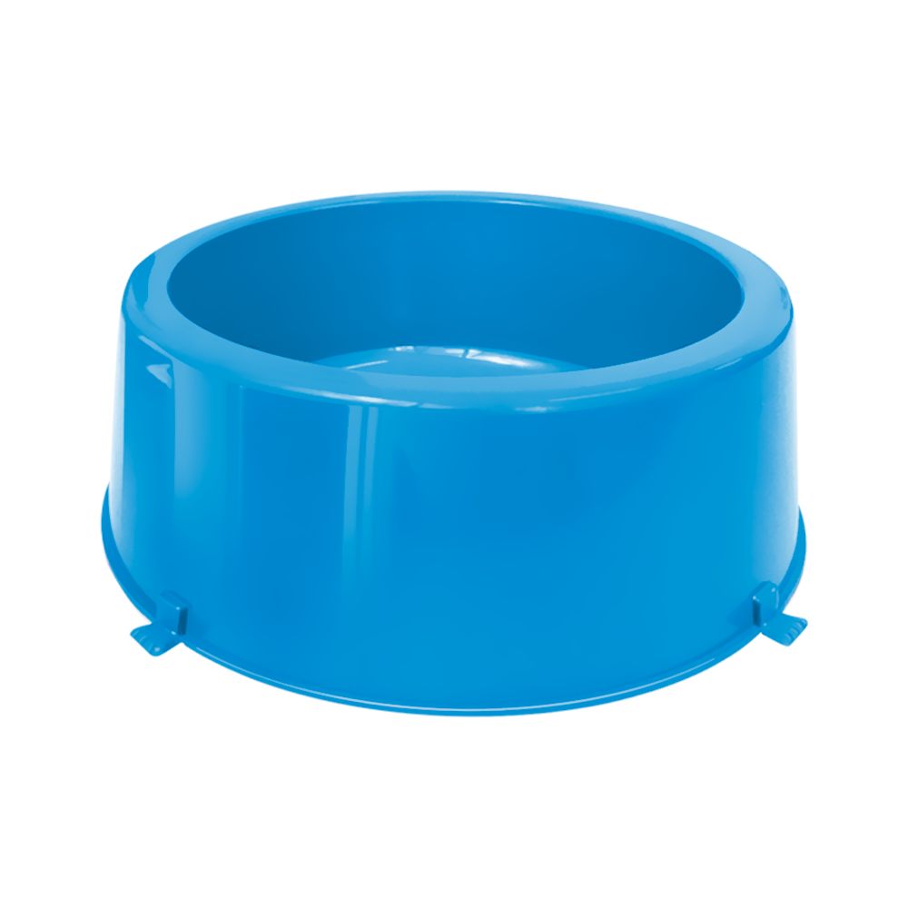 Comedouro plástico Classic para cães Furacão Pet n3 - 3.000 ml (azul)