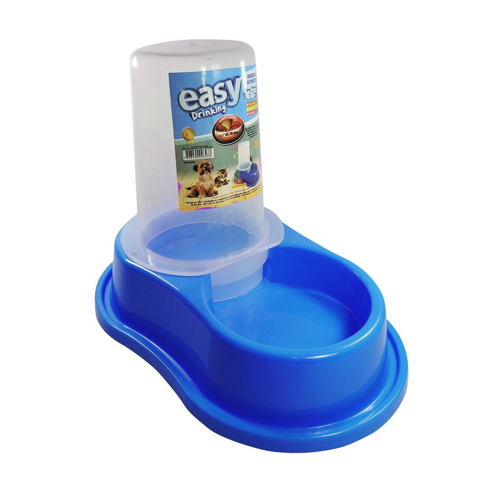 Bebedouro plástico para cães Anti-formiga Automático com dosador Furacão Pet - p (azul)