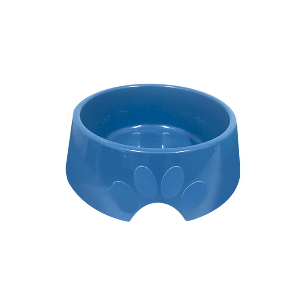 Comedouro plástico Pop para cães e gatos Furacão Pet n1 - 300 ml (azul)