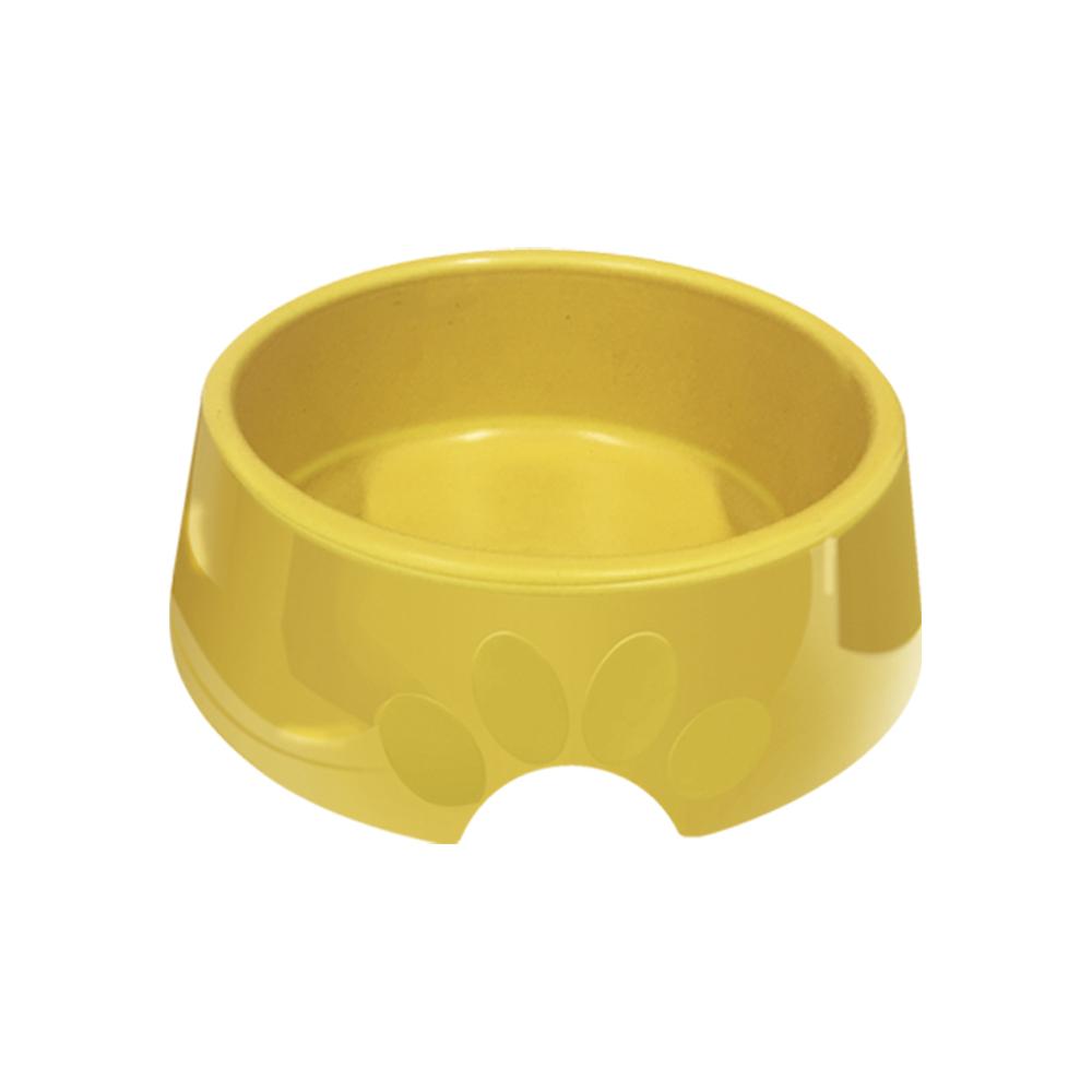 Comedouro plástico Pop para cães e gatos Furacão Pet n2 - 600 ml (amarelo)