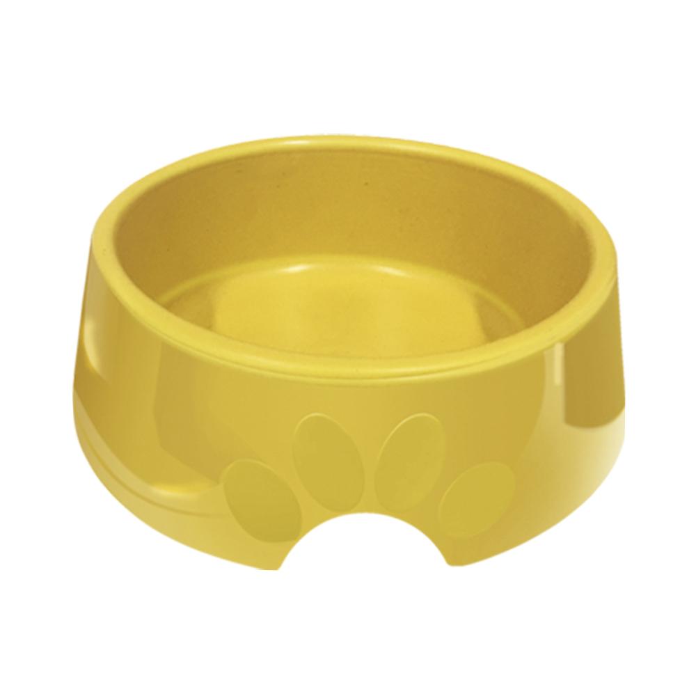 Comedouro plástico Pop para cães e gatos Furacão Pet n3 - 1.000 ml (amarelo)