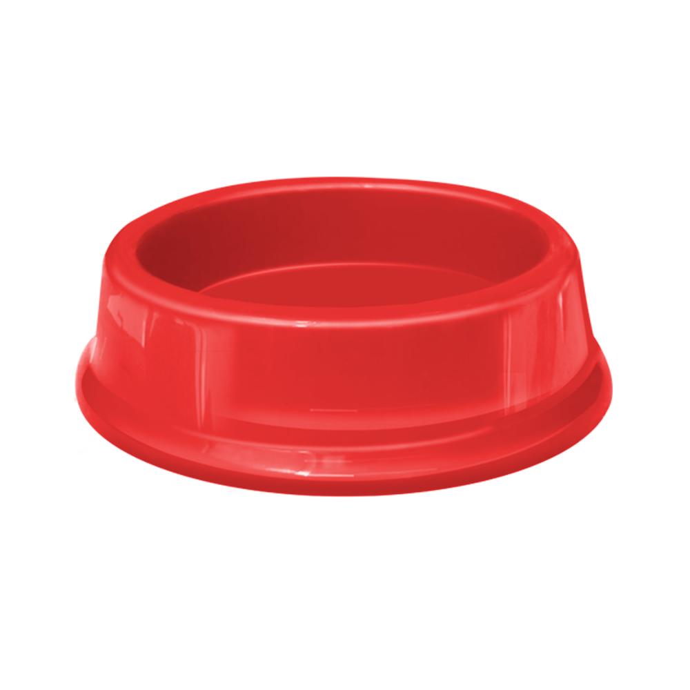 Comedouro plástico Gato Furacão Pet - 200 ml (vermelho)